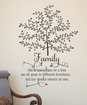 family tree wall quote would love this especially since i love family ...