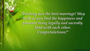 Congratulation Quotes For Married Couple ~ Marriage Greetings: How to ...