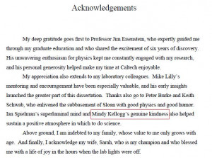 Acknowledgement Dissertation