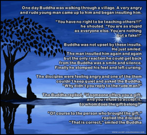 Short Story on anger and gift by Gautam Buddha