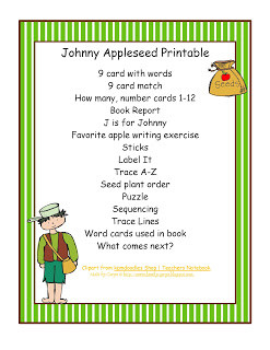 johnny appleseed printouts johnny appleseed printouts johnny appleseed ...
