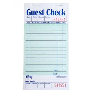 Restaurant Guest Check Blank Receipts