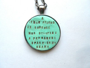 Bridesmaids Necklace Friendship Quote by indigotwinweddings