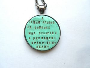 Bridesmaids Necklace Friendship Quote by indigotwinweddings