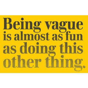 Vague quote #1
