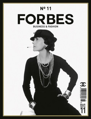 Forbes Spain features Coco Chanel on the cover of its March issue ...