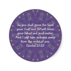bible_verses_healing_scripture_quote_exodus_23_25_sticker ...