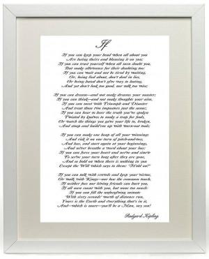 Rudyard Kipling's Poem If Print