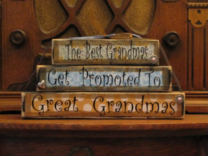 Great Grandma Quotes Great grandma sign blocks