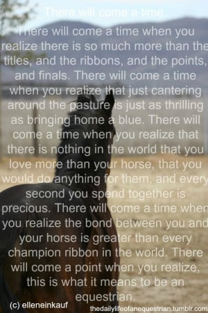 horse quotes inspirational | there comes a point horse riding pony ...