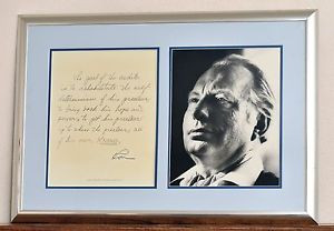 ... Ron-Hubbard-Framed-Matted-Picture-and-Handwritten-Quote-Scientology