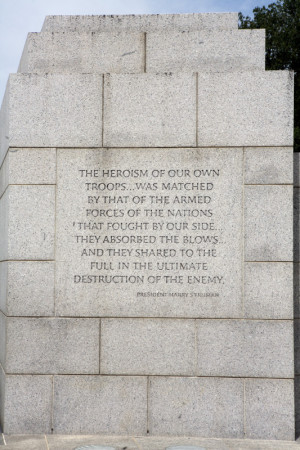 harry s truman quote a quote of president harry s truman engraved on a ...