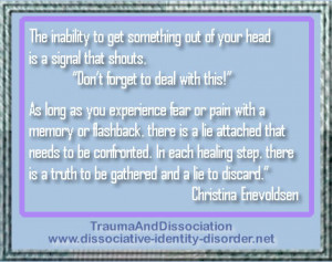 The inability to get something out of your head is a signal that ...