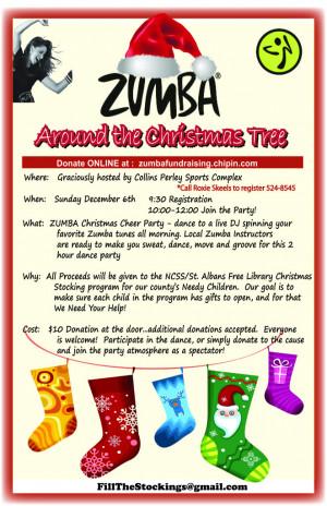 Zumba Fundraiser flyer Image