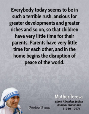 ... parents. Parents have very little time for each other, and in the home