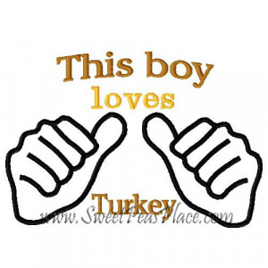 This boy loves Turkey Embroidery Design