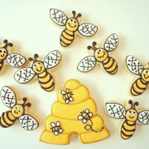 bee, bees, bumble, buzz, buzzy, cookies, cute, food, hive, honey ...