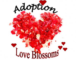 Adoption Love Blossoms Red Rose Petal Hearts! - #adoption #gift