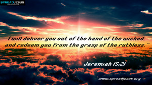 ... WALLPAPERS,FACEBOOK TIMELINE COVERS,BIBLE QUOTES IMAGES-Jeremiah 15:21