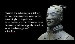 Assess the advantages in taking advice, then structure your forces ...