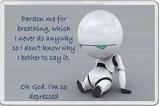 MARVIN THE DEPRESSED ROBOT HITCHHIKERS GUIDE TO THE GALAXY FUNNY T ...
