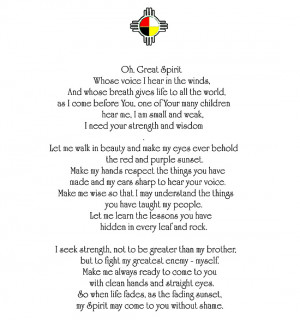 Chief Yellow Lark Prayer