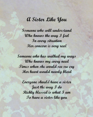 Love You Sister Poems And Quotes I love you sister poems and