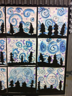 winter art projects elementary