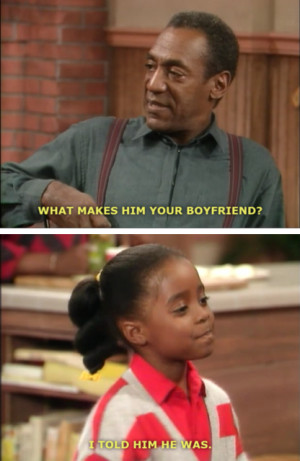 Rudy Tells Bill Cosby She Got Herself a Boyfriend On The Cosby Show
