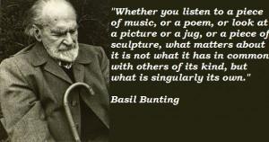 Basil Bunting Quotes