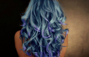 beautiful, blue, dip dye, girl, hair, purple, wanted
