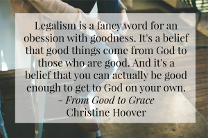 ... rest in grace. Christine helped me see the real issue with this quote