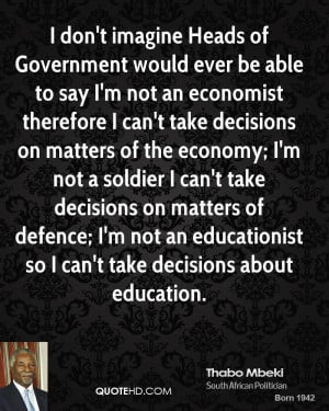 Thabo Mbeki Government Quotes