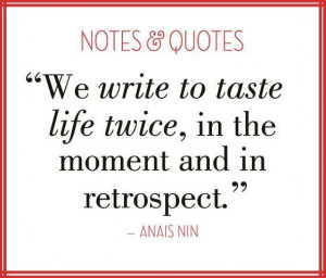 The importance of writing..