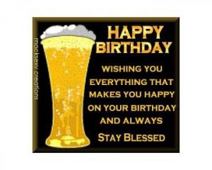 Happy Birthday Beer Image
