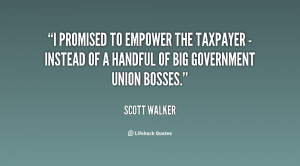 promised to empower the taxpayer - instead of a handful of big ...