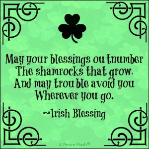 St. Patrick's Day Irish Blessing quote via www.Facebook.com/PeaceFlash