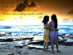 Don't forget your friendship!!!