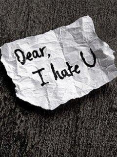 Dear, I Hate U - Feeling Quotes
