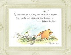 ... Pooh - Digital Download ~ Winnie & Piglet Windy Day & Quote 10 x 8