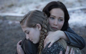 Willow Shields, left, and Jennifer Lawrence in The Hunger Games ...