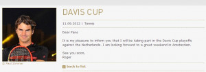 ... you as we update you guys during the Davis Cup matches. Hopp Suisse