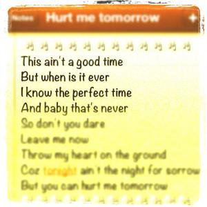 NAAN-Hurt Me Tomorrow