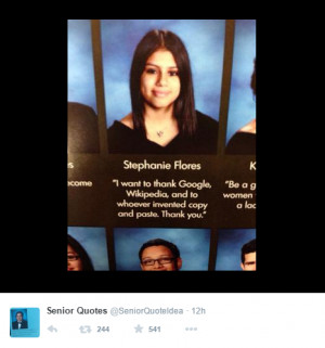 Check out more hilarious quotes from the Class of 2015 (post continues ...