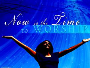 Christian Graphic: Time to Worship Papel de Parede Imagem