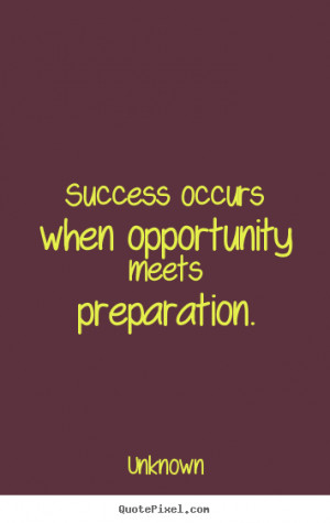 Quotes About Success and Preparation