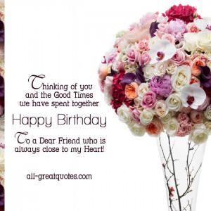 Happy Birthday Cards For Friends Happy Birthday To a Dear Friend jpg