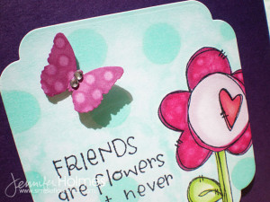then added one of the sentiments from flower quotes