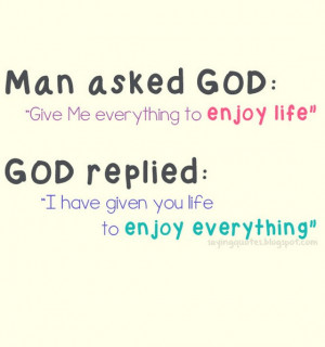 Man asked god give me everything to