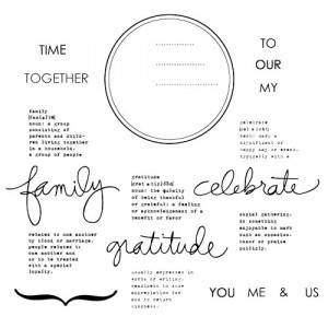 ... Tuesday - Clear Acrylic Stamps - Family Circle by Ali Edwards